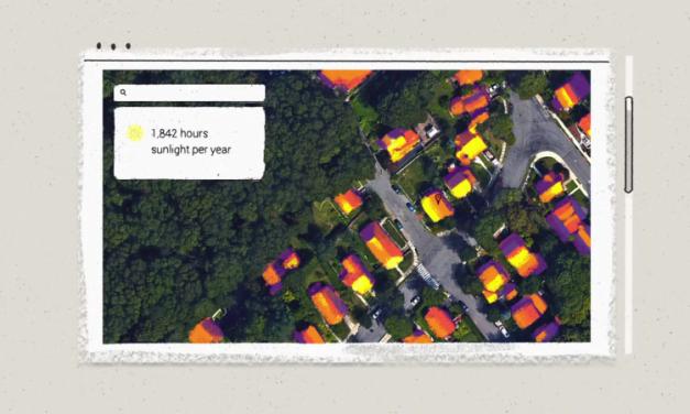 Project Sunroof: Solar panel installation estimate program for homeowners