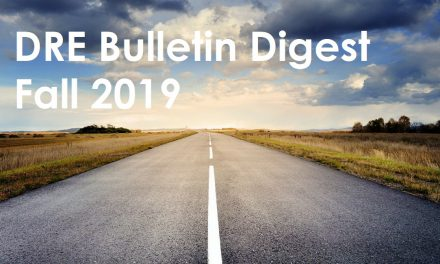 Fall 2019 DRE Bulletin Digest