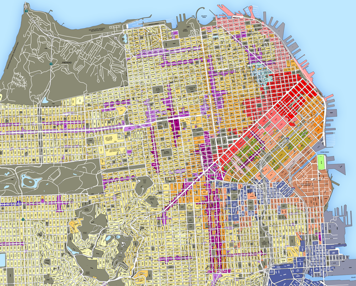 San francisco land use map