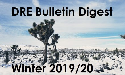 DRE Bulletin Digest Winter 2019/2020